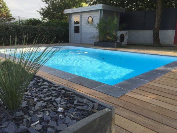 Construction de piscine par le pisciniste paysagiste à Angers, de Boislaville