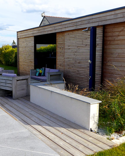 Installation d'un abri de jardin en Maine-et-Loire