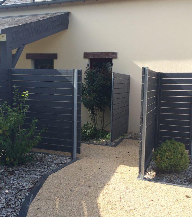 portail clôture paysagiste Angers Saumur