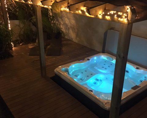 Installation d'un spa en extérieur