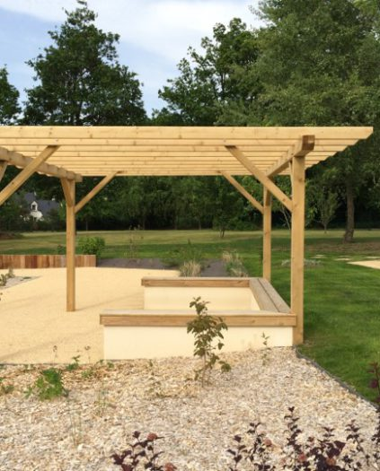 Pergola aménagement bois