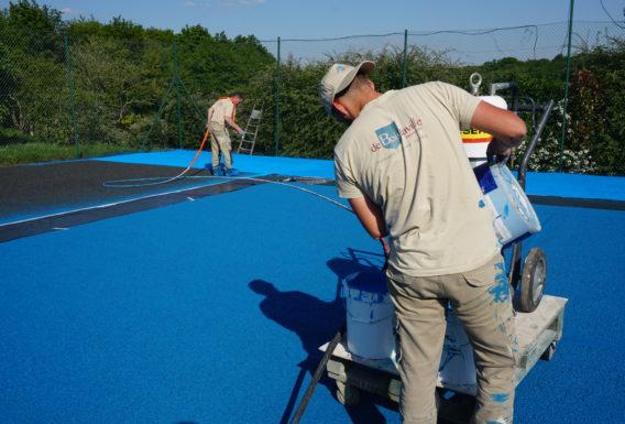 rénovation terrain de tennis