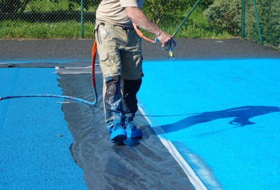 Construction rénovation terrain de tennis