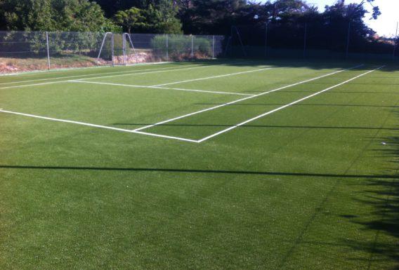 Construction court de tennis